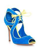 Suede bolero lace-up sandal