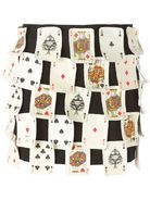 MOSCHINO VINTAGE card game patches skirt
