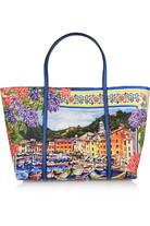 Escape Portofino 印花纹理皮革手提包