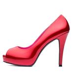 Top Gloria红色漆皮鱼嘴高跟鞋