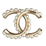 Chanel香奈儿金属珍珠设计胸针