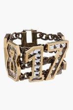 Lanvin Gold And Crystal Digit Bracelet