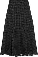 Swind 羊毛混纺巴里纱超长半身裙