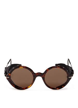 Blinker side piece tortoise sunglasses