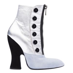 Miu Miu2013秋冬季系列银蓝色短靴