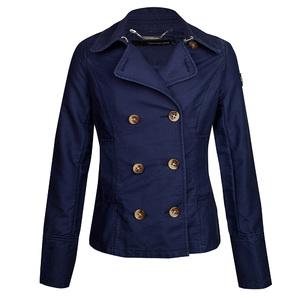 Calvin Klein Jeans 2013年蓝色双排扣短外套