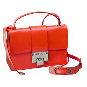 JIMMY CHOO2014春夏系列橘红色公文斜挎包