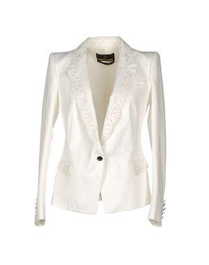 白色 ROBERTO CAVALLI 西装上衣