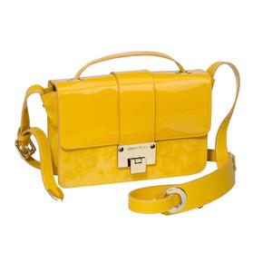 JIMMY CHOO2014春夏系列黄色漆皮单肩包