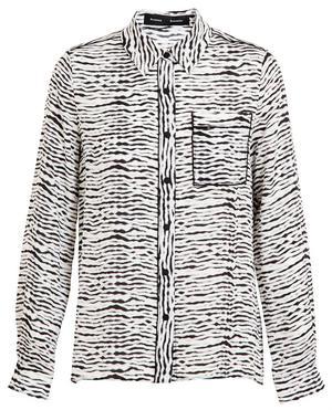 Zebra Effect Silk Shirt
