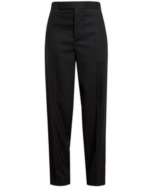 Striped Wool Tailored Trousers