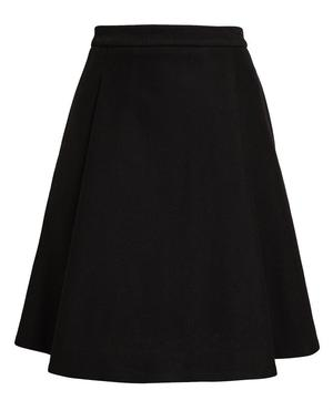 Box Pleated Cotton Skirt