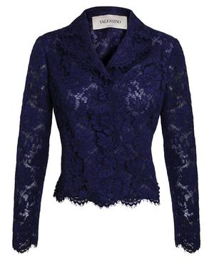 Floral Lace and Organza Jacket
