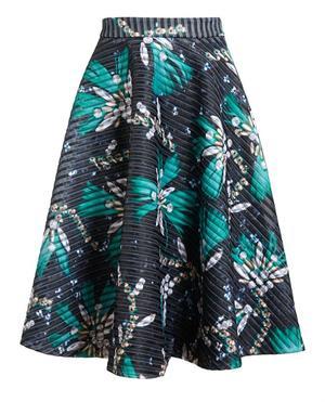 Flared Printed Skirt