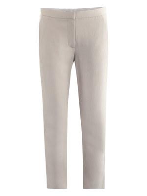Renstead truffle crepe trousers