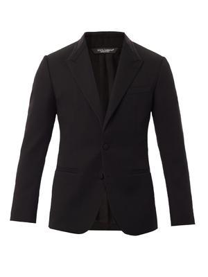 Peak lapel wool jacket