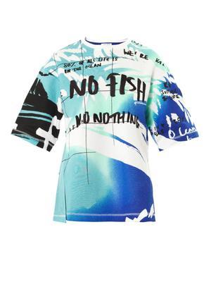 Slogan-print cotton sweatshirt