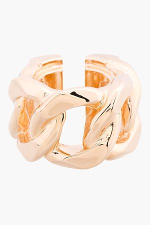 Givenchy Rose Gold Curb Chain Ring