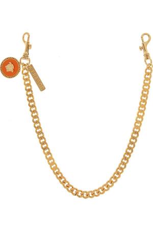 施华洛世奇水晶缀饰金色腰带链