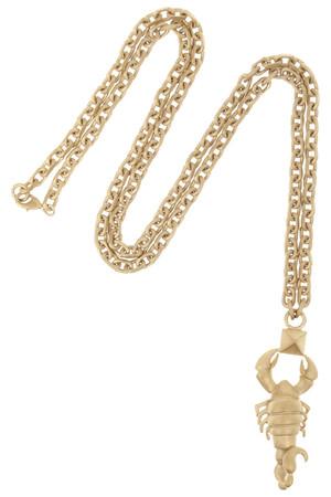 Scorpio 金色项链