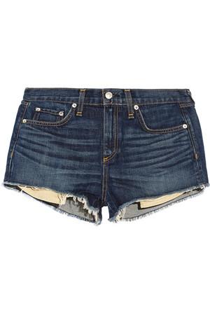 Mila 毛边牛仔短裤