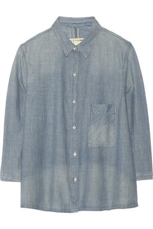 纯棉钱布雷布衬衫