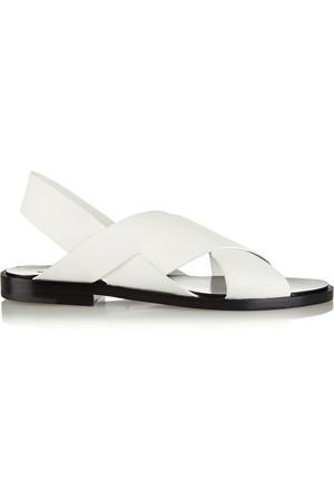 Elena 哑光皮革露跟凉鞋