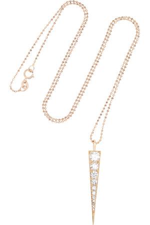 Dagger 18K 玫瑰金钻石项链