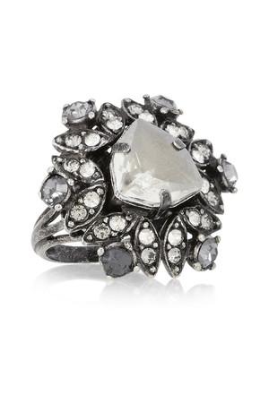 Iconic 水晶炮铜色戒指