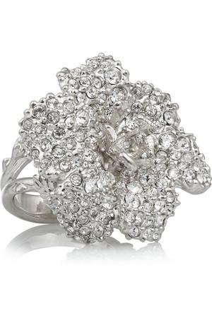 施华洛世奇水晶银色戒指