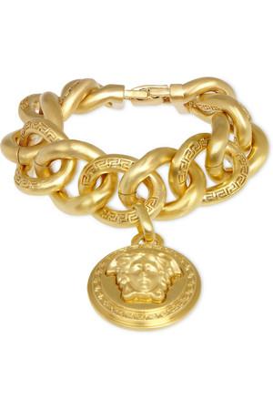 镀金链环手链