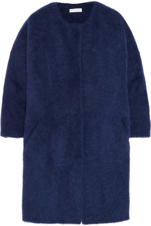 羊驼毛混纺蚕茧形外套