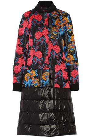 刺绣绗缝轻薄面料外套