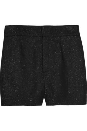 亮片金葱灯芯绒短裤
