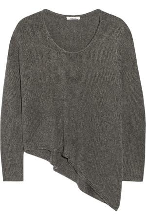 不对称针织毛衣