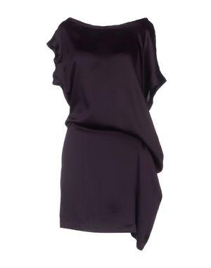 深紫 ANN DEMEULEMEESTER 短款连衣裙
