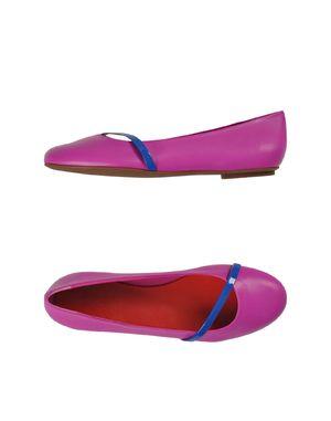 紫红 BALLY 芭蕾平底鞋