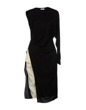 黑色 VIONNET 及膝连衣裙