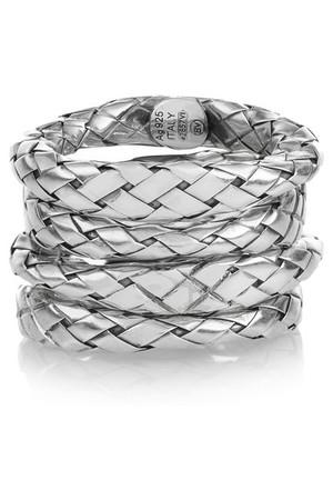 编织纯银戒指(四件套)