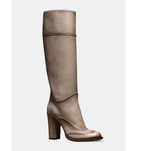 Gucci 灰色牛皮长筒靴