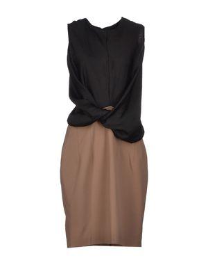 沙色 D.A. DANIELE ALESSANDRINI 中长款连衣裙