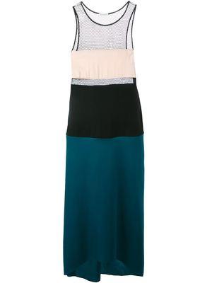 VIONNET tricolour mesh detail dress