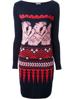 VIONNET patterned knit dress