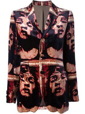 JEAN PAUL GAULTIER VINTAGE printed velvet jacket