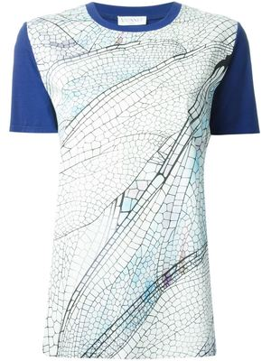 VIONNET contrast sleeves printed T-shirt