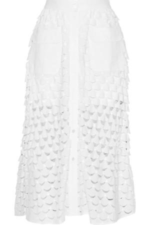 Eolienne 马德拉刺绣纯棉中长半身裙