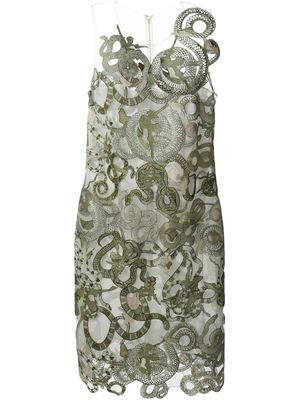 MARY KATRANTZOU lace viper dress