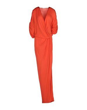珊瑚红 VIONNET 长款连衣裙