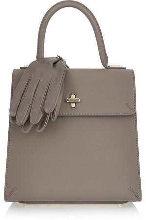 Bogart 纹理皮革手提包