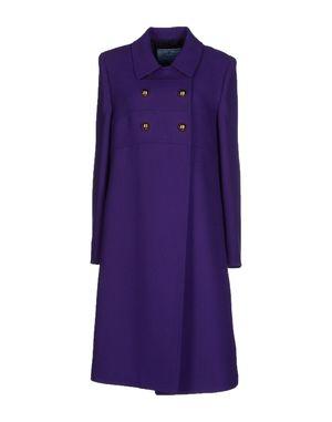 紫色 PRADA 大衣